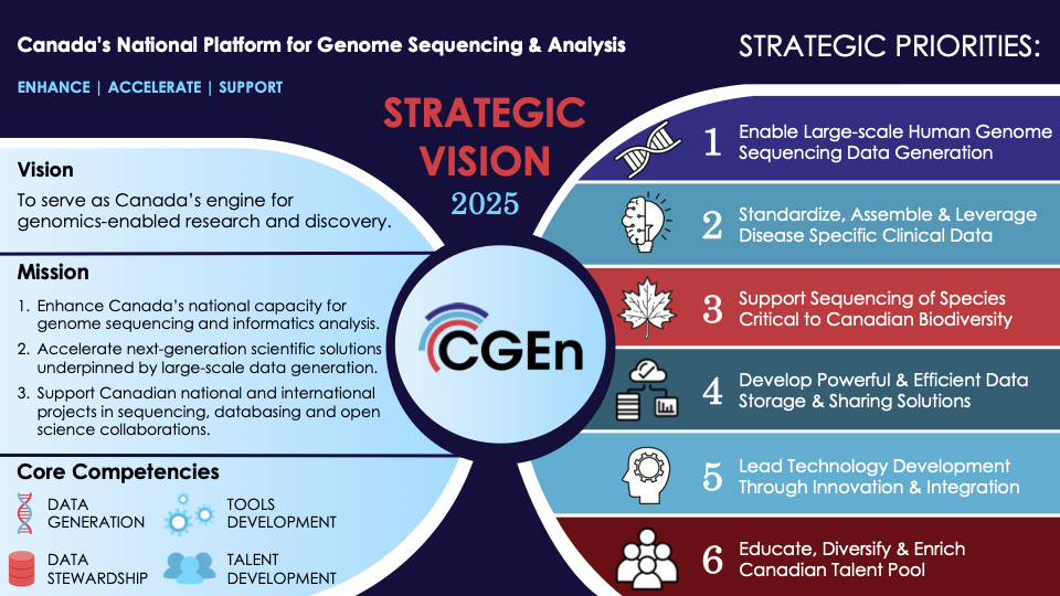 An overview of CGEn's Strategic Vision including 6 priorities for 2021-2025